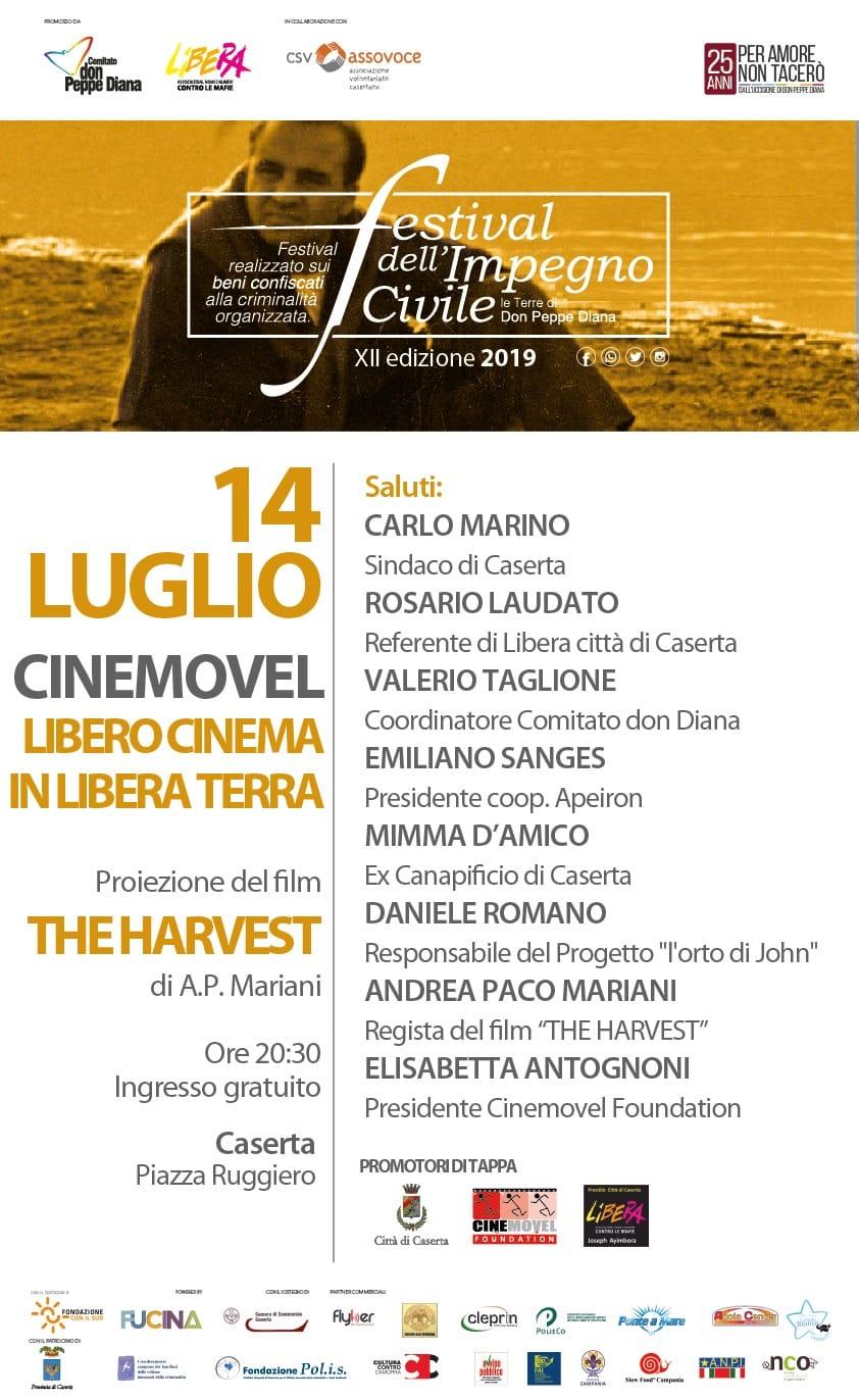 Cinemovel Libero Cinema in Libera Terra - 14 luglio - P.zza Ruggiero Caserta